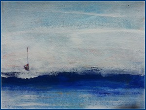 Moored in the Morning Haze      SOLD