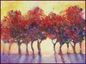 Red Trees   SOLD